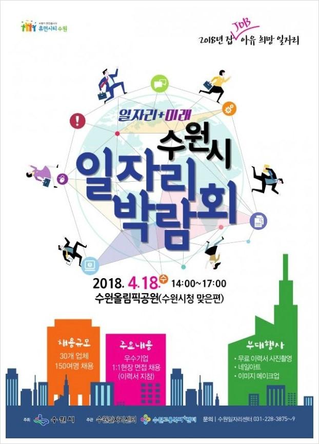 일자리 박람회 개최 홍보 포스터