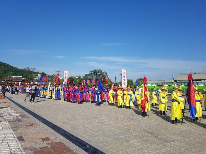 정조대왕 능행차, 화성행궁에서 대황교동 구간 행렬