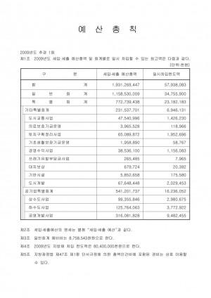 2009년도 1회추경 예산서