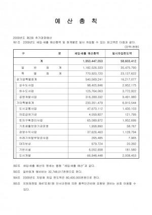 2009년도 2회추경 예산서
